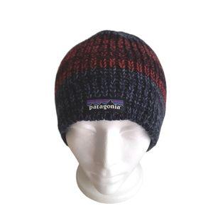 Patagonia Speedway Twist Wool Blend Fleece Lined Winter Knit Beanie Hat Toque